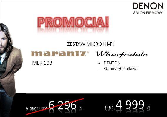 ZESTAW MICRO HI-FI MER 603 -DENTON -Standy głośnikowe