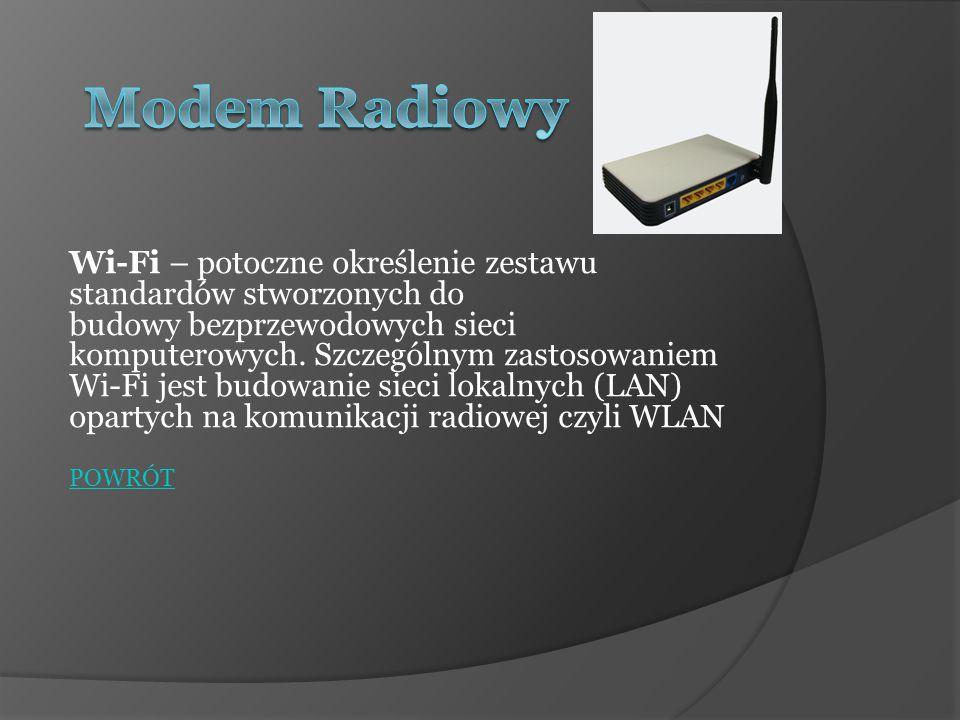 Wi-Fi – potoczne określenie zestawu standardów stworzonych do budowy bezprzewodowych sieci komputerowych. Szczególnym zastosowaniem Wi-Fi jest budowan