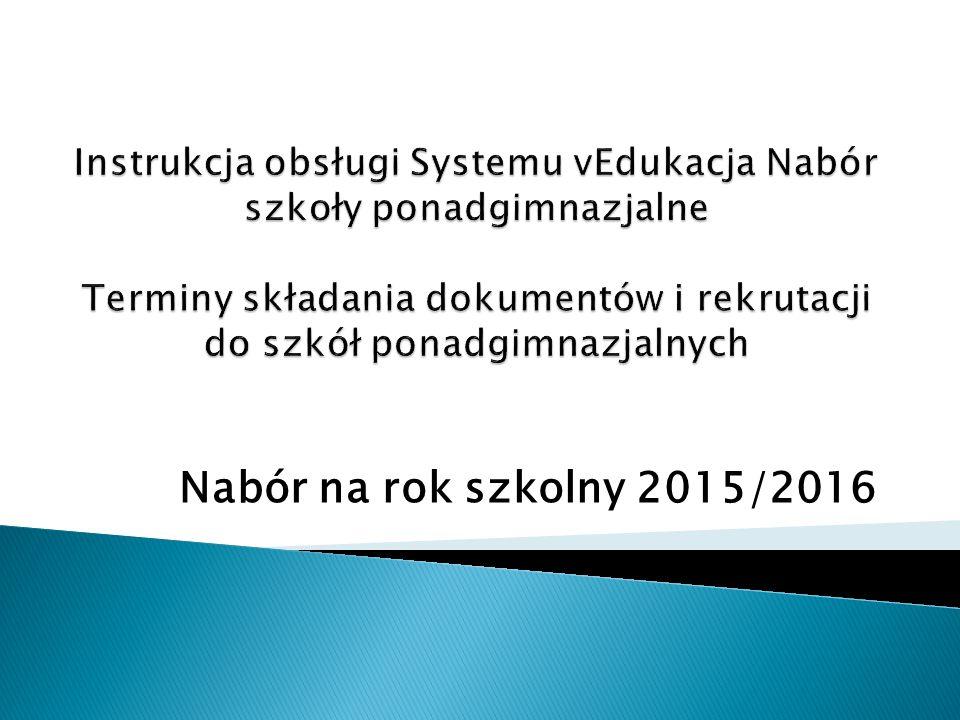 Nabór na rok szkolny 2015/2016