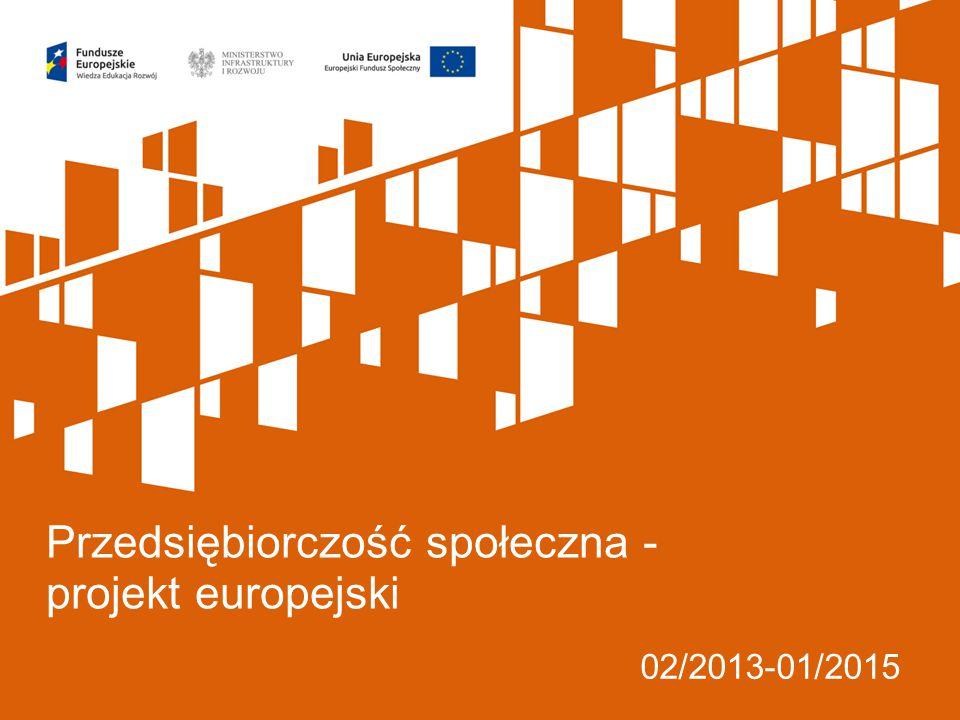 02/2013-01/2015 Przedsiębiorczość społeczna - projekt europejski
