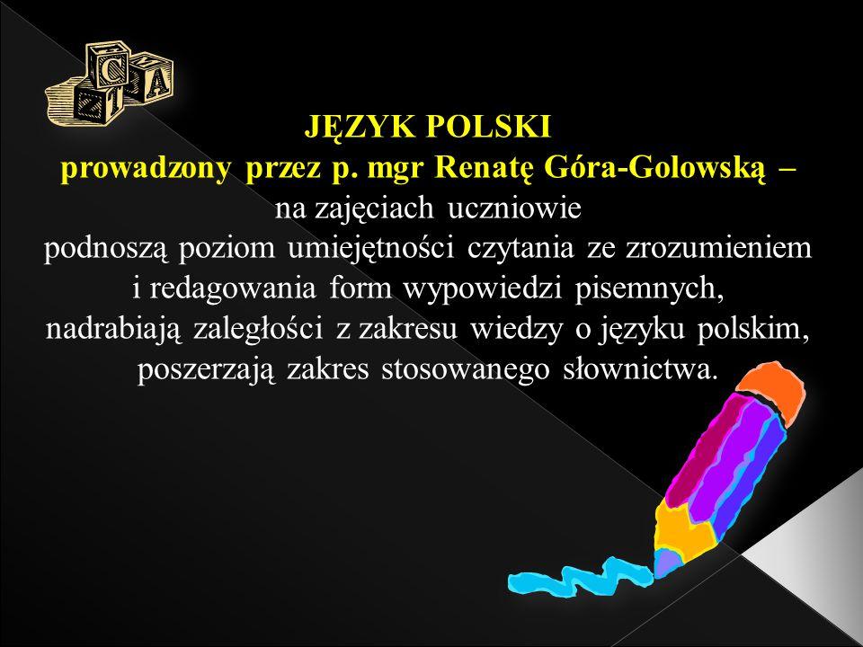 JĘZYK POLSKI prowadzony przez p.