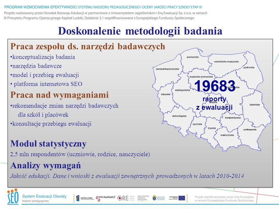 Doskonalenie metodologii badania Praca zespołu ds.