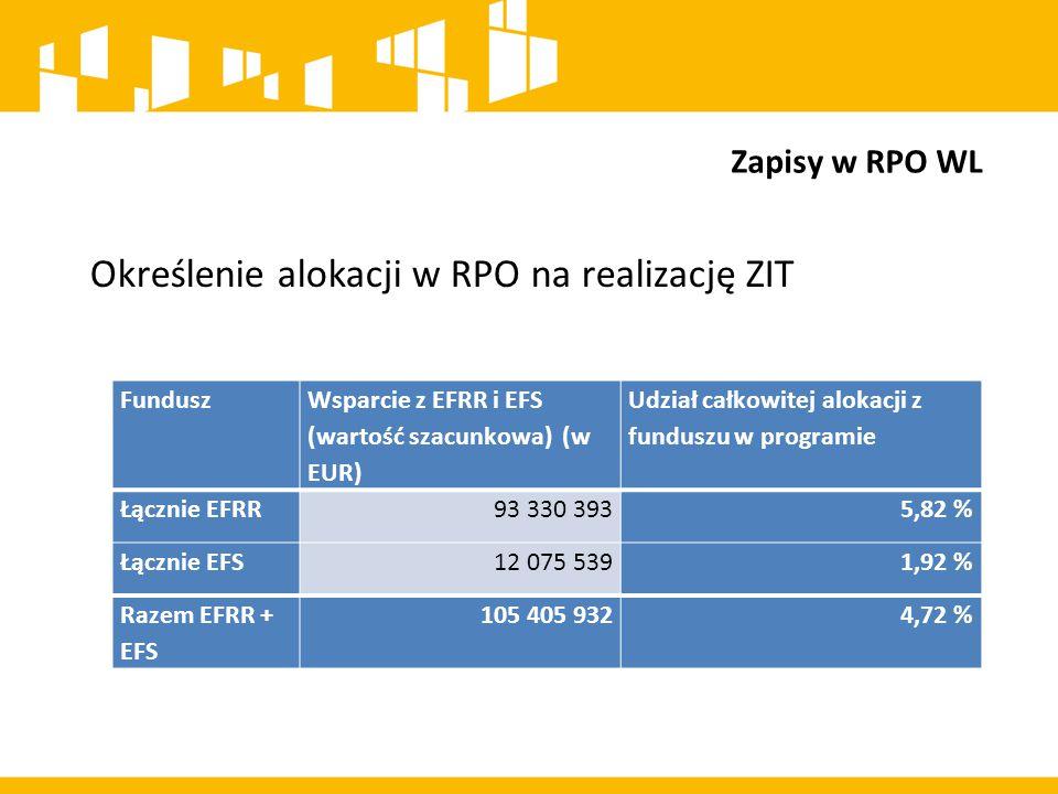 """ZIT mają przyczynić się do zwiększenia efektywności realizacji RPO WL 2014-2020 poprzez: ZIT Sprzyjanie integracji i współpracy na rzecz wspólnego wzmacniania potencjałów i rozwiązywania problemów ZIT Realizację projektów/przedsięwzięć """"zintegrowanych odpowiadających w sposób kompleksowy na potrzeby i problemy Lubelskiego Obszaru Funkcjonalnego ZIT Zwiększanie udziału JST w zarządzaniu RPO WL 2014-2020 ZIT Realizację wskaźników programowych oraz przyczynianie się do osiągnięcia kamieni milowych"""