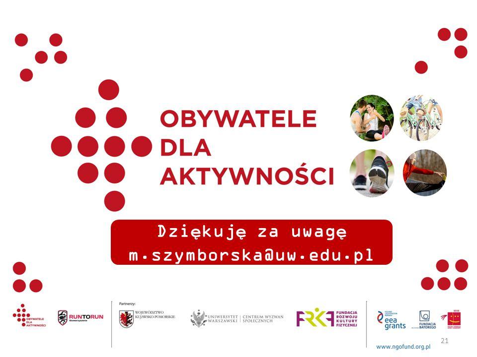 Dziękuję za uwagę m.szymborska@uw.edu.pl 21