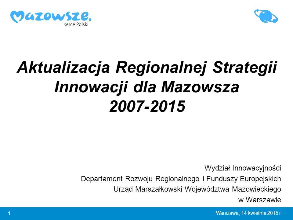 1 Warszawa, 14 kwietnia 2015 r.
