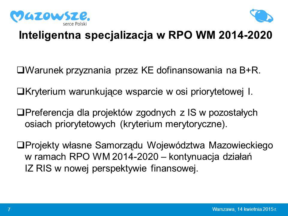 18 Warszawa, 14 kwietnia 2015 r.