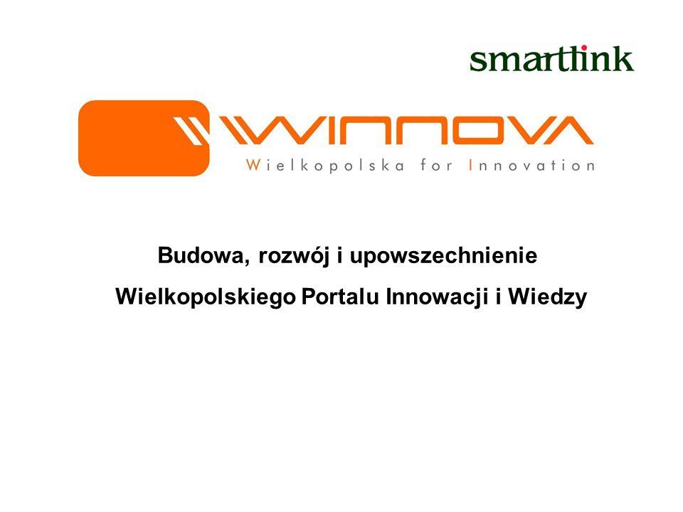 Budowa, rozwój i upowszechnienie Wielkopolskiego Portalu Innowacji i Wiedzy