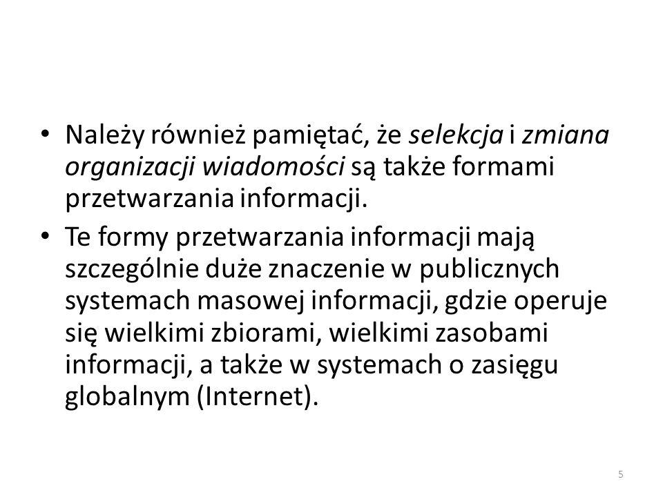 Warunki interpretacji informacji 1.Identyfikacja języka, w jakim wiadomość jest skonstruowana.