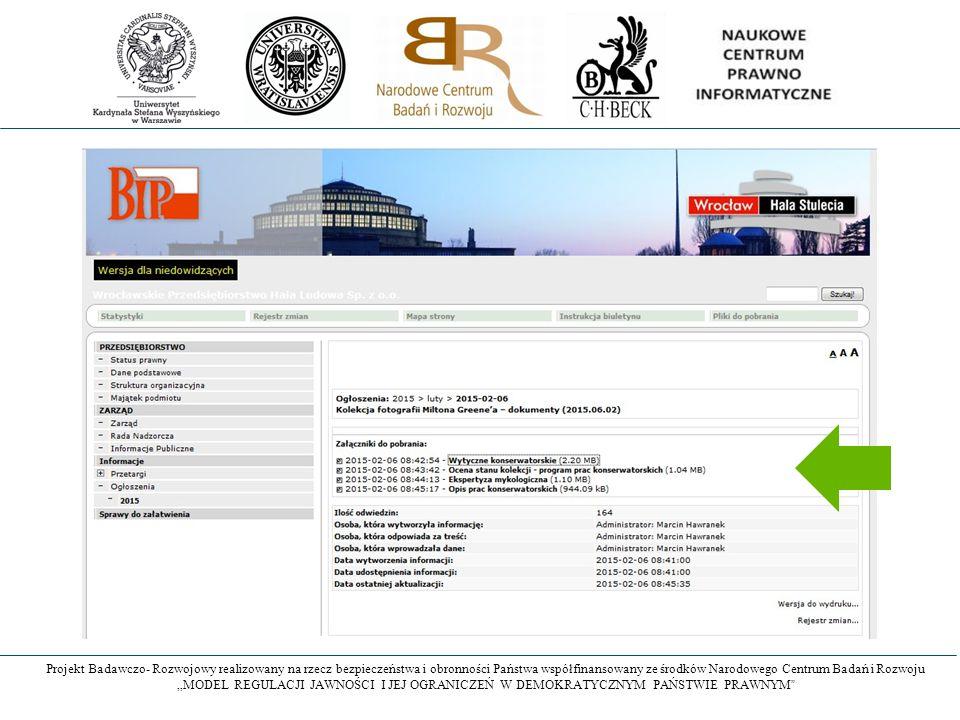 """Projekt Badawczo- Rozwojowy realizowany na rzecz bezpieczeństwa i obronności Państwa współfinansowany ze środków Narodowego Centrum Badań i Rozwoju """"M"""