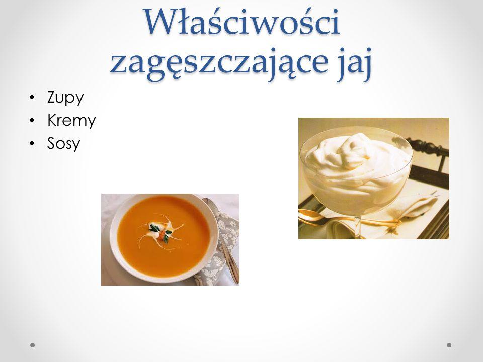Właściwości zagęszczające jaj Zupy Kremy Sosy