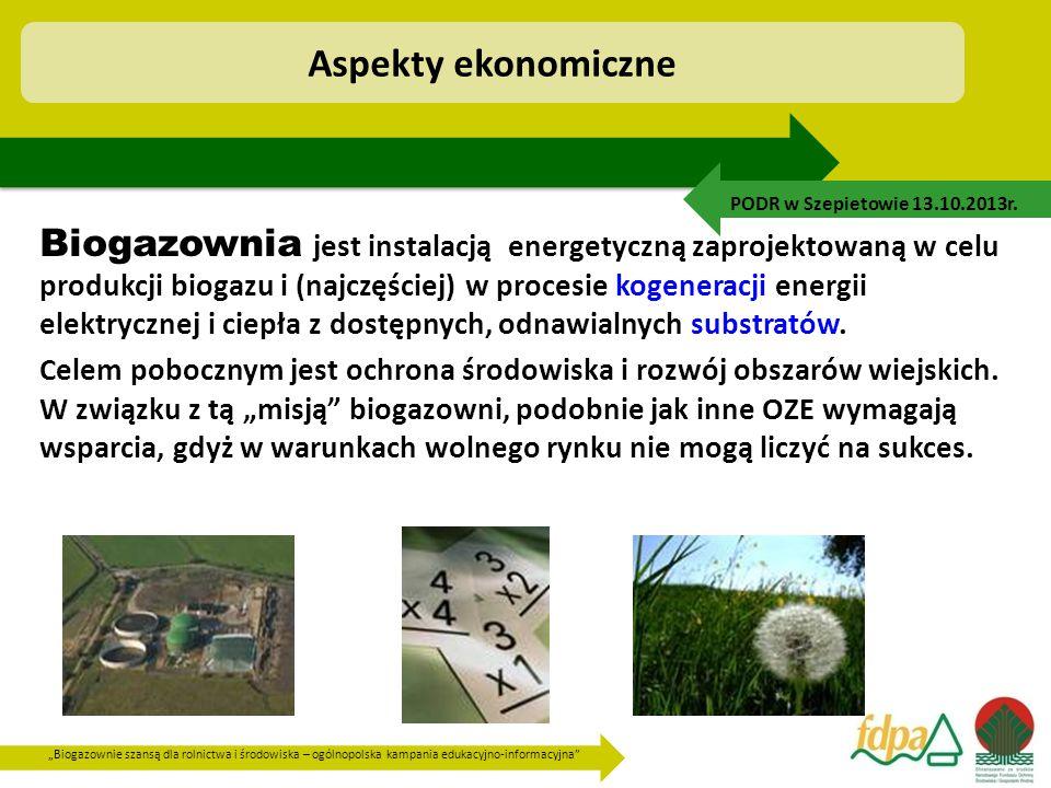 """""""Biogazownie szansą dla rolnictwa i środowiska – ogólnopolska kampania edukacyjno-informacyjna"""" Biogazownia jest instalacją energetyczną zaprojektowan"""