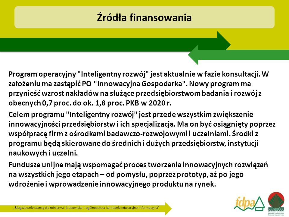 """""""Biogazownie szansą dla rolnictwa i środowiska – ogólnopolska kampania edukacyjno-informacyjna"""" Program operacyjny"""