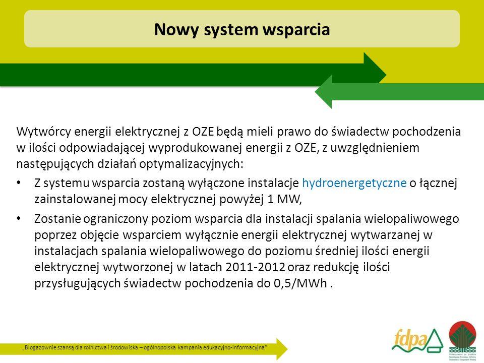"""""""Biogazownie szansą dla rolnictwa i środowiska – ogólnopolska kampania edukacyjno-informacyjna"""" Wytwórcy energii elektrycznej z OZE będą mieli prawo d"""