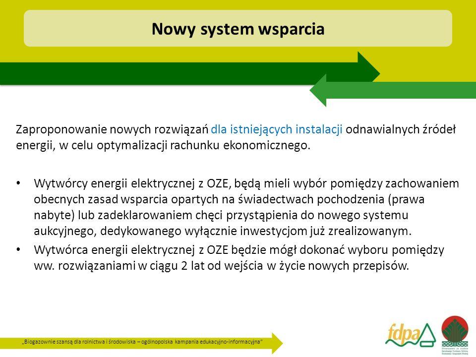 """""""Biogazownie szansą dla rolnictwa i środowiska – ogólnopolska kampania edukacyjno-informacyjna"""" Zaproponowanie nowych rozwiązań dla istniejących insta"""