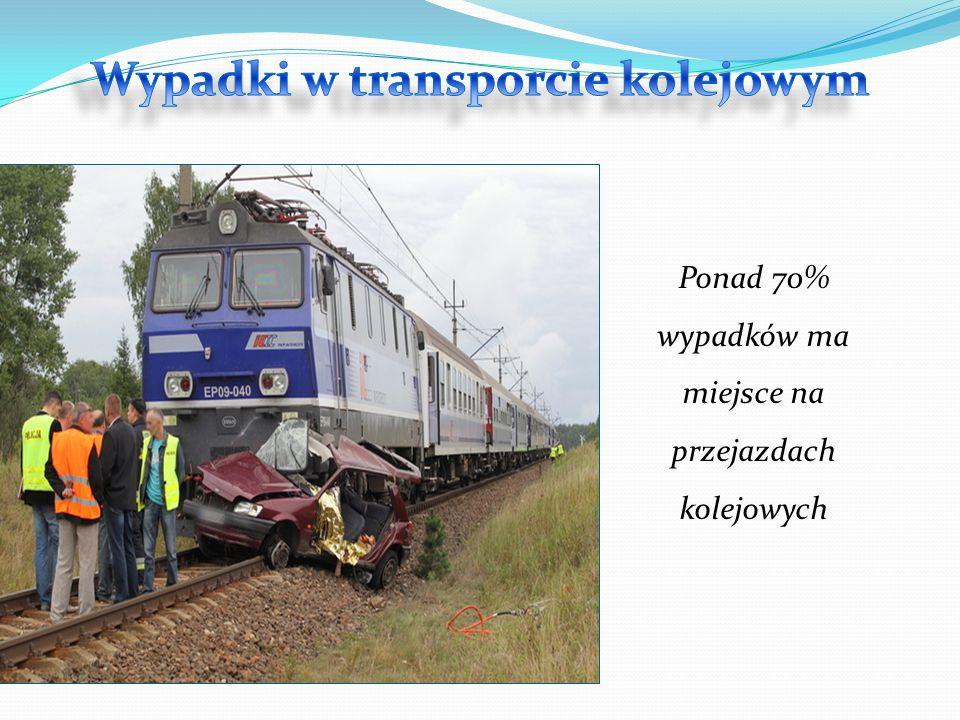 Ponad 70% wypadków ma miejsce na przejazdach kolejowych