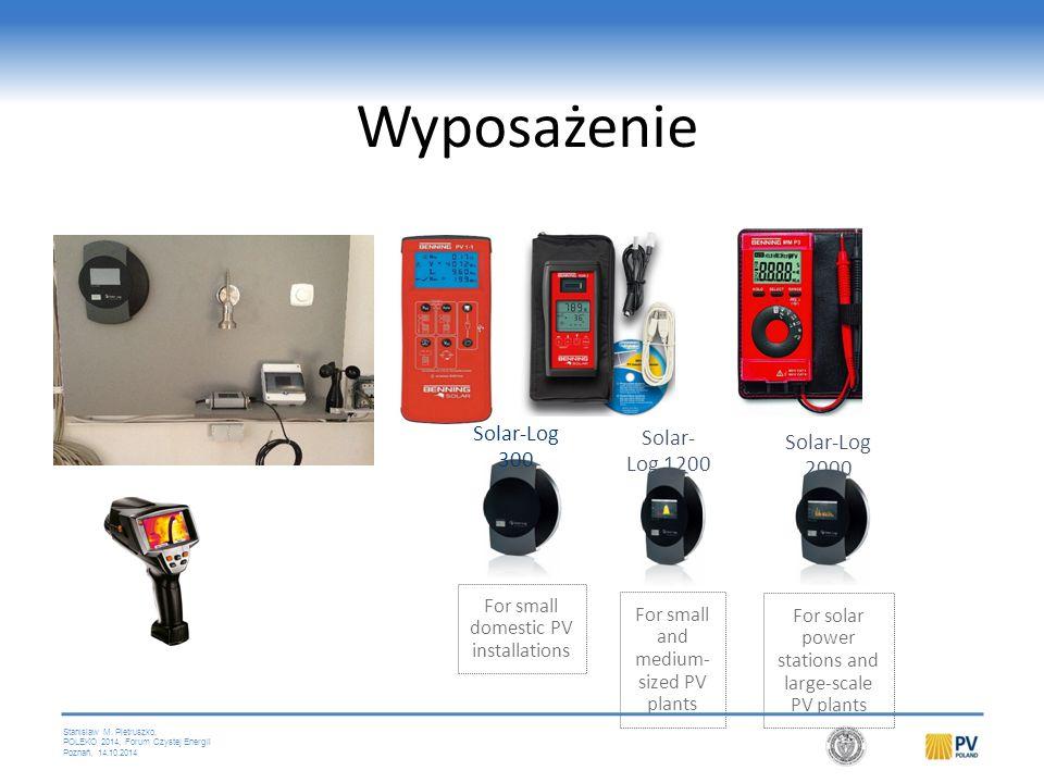 Stanislaw M. Pietruszko, POLEKO 2014, Forum Czystej Energii Poznań, 14.10.2014 Wyposażenie Solar-Log 300 For small domestic PV installations Solar- Lo