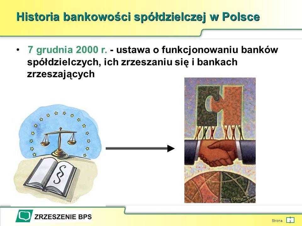 Strona 17 Historia bankowości spółdzielczej w Polsce 7 grudnia 2000 r.