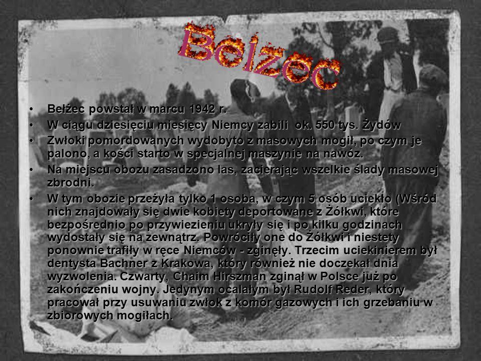Bełżec powstał w marcu 1942 r.Bełżec powstał w marcu 1942 r. W ciągu dziesięciu miesięcy Niemcy zabili ok. 550 tys. ŻydówW ciągu dziesięciu miesięcy N