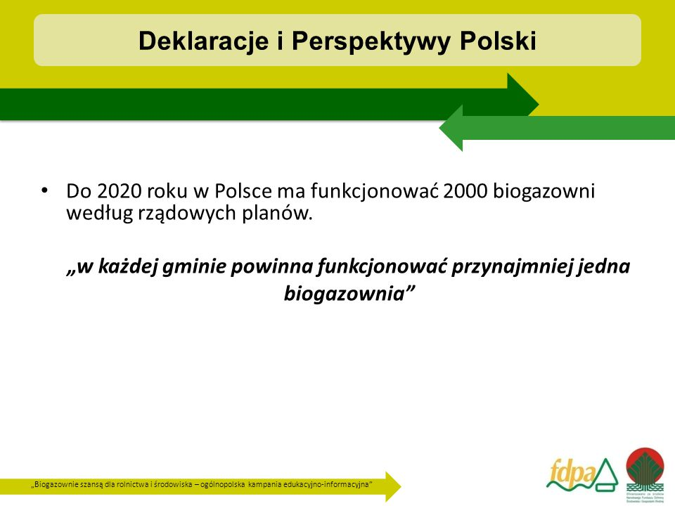 """""""Biogazownie szansą dla rolnictwa i środowiska – ogólnopolska kampania edukacyjno-informacyjna Lokalne zaangażowanie"""