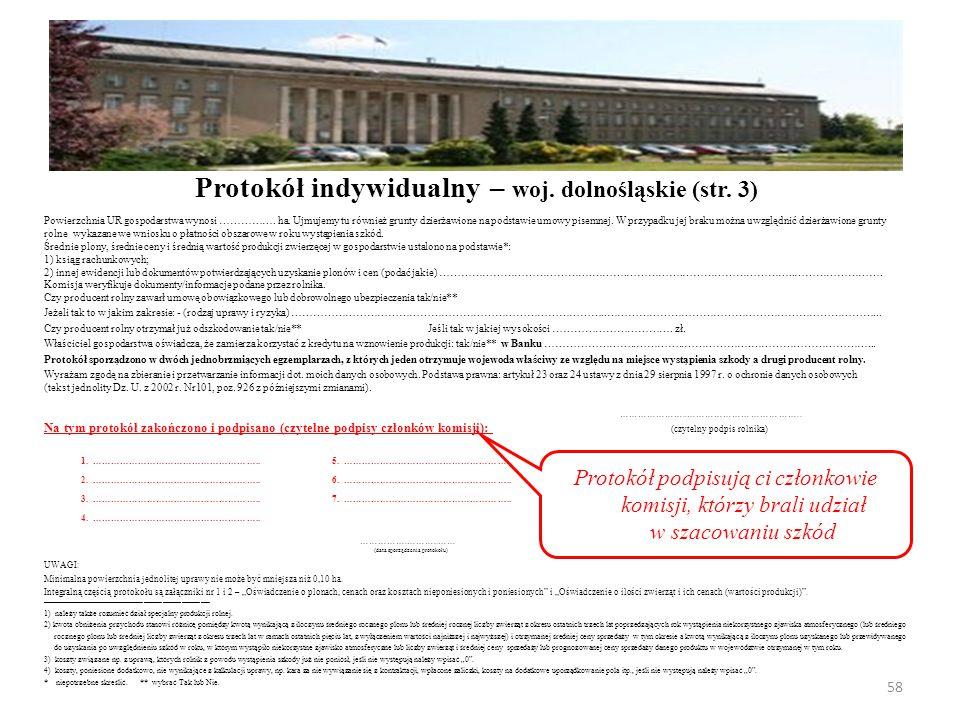 Powierzchnia UR gospodarstwa wynosi ……………. ha.