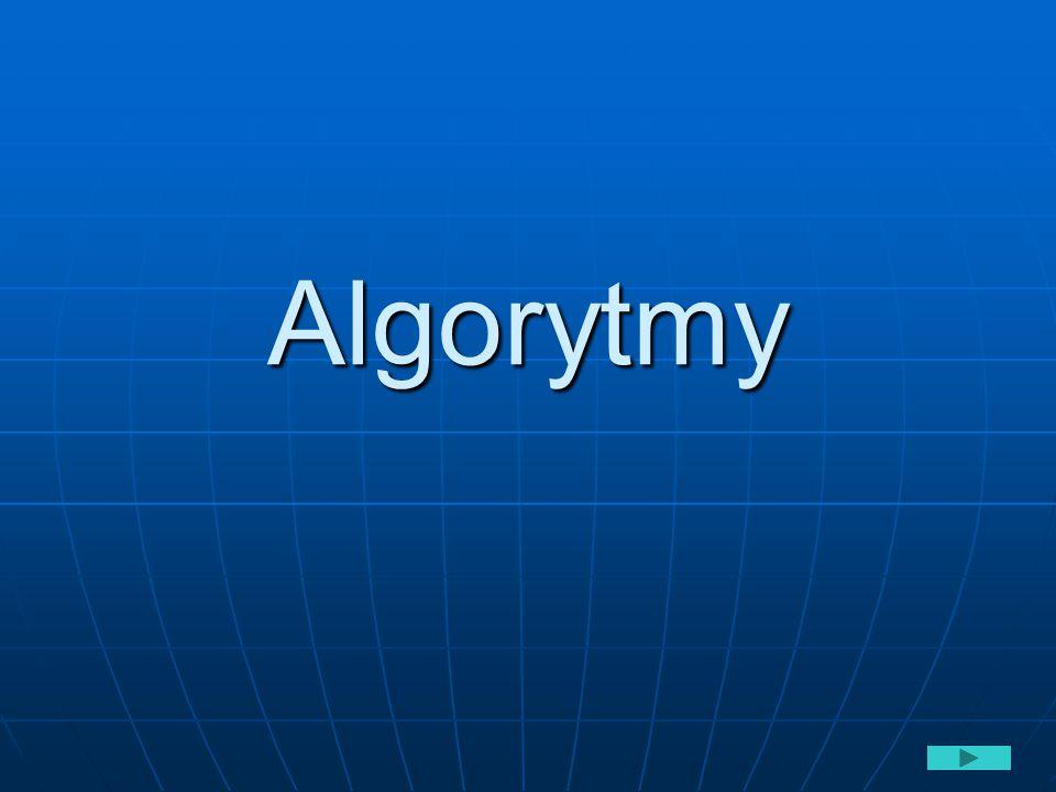 Budowa algorytmu – średnia n liczb Początek algorytmu Średnia n-liczb Wprowadzenie danej informujacej ile jest liczb oznaczonej przez n Wykonywanie obliczeń Lista wykonania suma:=0 licznik:=0 Sprawdzenie warunku i<n Jeżeli tak Jeżeli nie Wprowadzenie danej x Wyprowadzenie wyniku średnia Wykonanie obliczeń: suma:=suma+x licznik:=licznik+1 średnia:=suma/n Koniec algorytmu liczącego średnią wprowadzonych n-liczb