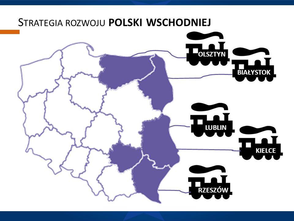 R OLA SYSTEMÓW TRANSPORTOWYCH silny wpływ ośrodków regionalnych na wojewódzkie rynki pracy Odsetek dojeżdżających do miast wojewódzkich Polski Wschodniej rzadko spada poniżej 25% pracujących w danym mieście.