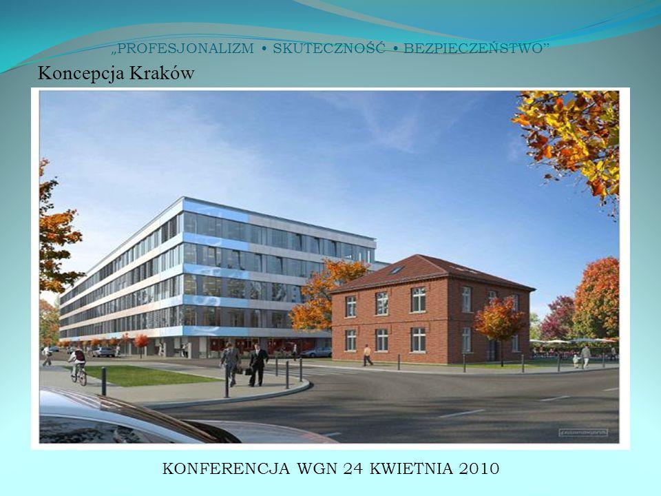 """"""" PROFESJONALIZM SKUTECZNOŚĆ BEZPIECZEŃSTWO """" KONFERENCJA WGN 24 KWIETNIA 2010 Koncepcja Kraków"""