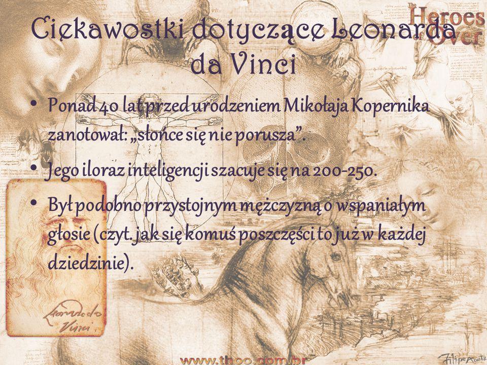Rze ź by i szkice Leonarda Leonardo da Vinci wykazał się również w rzeźbie.