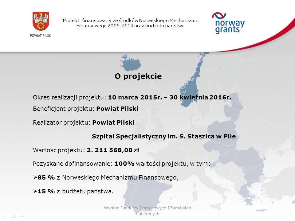Projekt finansowany ze środków Norweskiego Mechanizmu Finansowego 2009-2014 oraz budżetu państwa O projekcie Okres realizacji projektu: 10 marca 2015r.