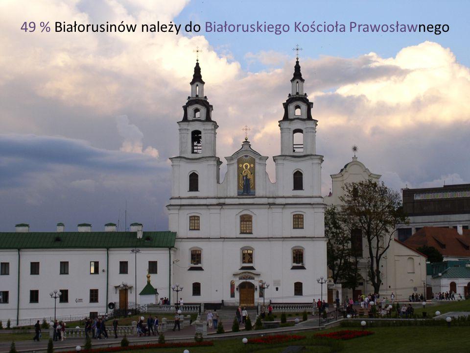 49 % Białorusinów należy do Białoruskiego Kościoła Prawosławnego