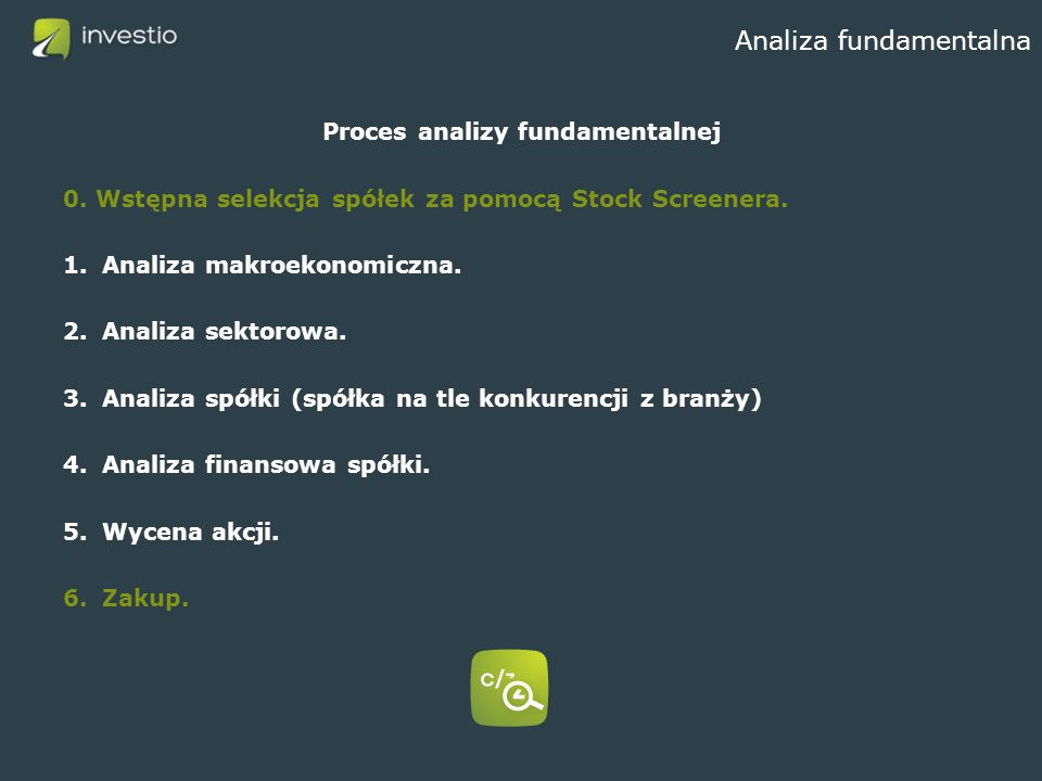 Analiza fundamentalna Proces analizy fundamentalnej 0.