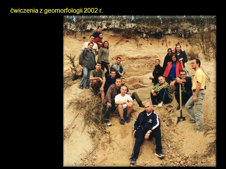 ćwiczenia z geomorfologii 2002 r.