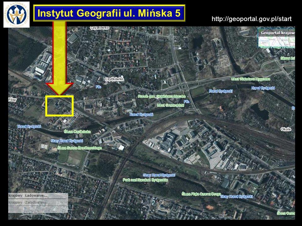Instytut Geografii Instytut Geografii ul. Mińska 5 http://geoportal.gov.pl/start