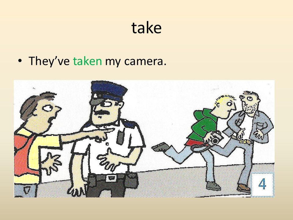 take They've taken my camera.