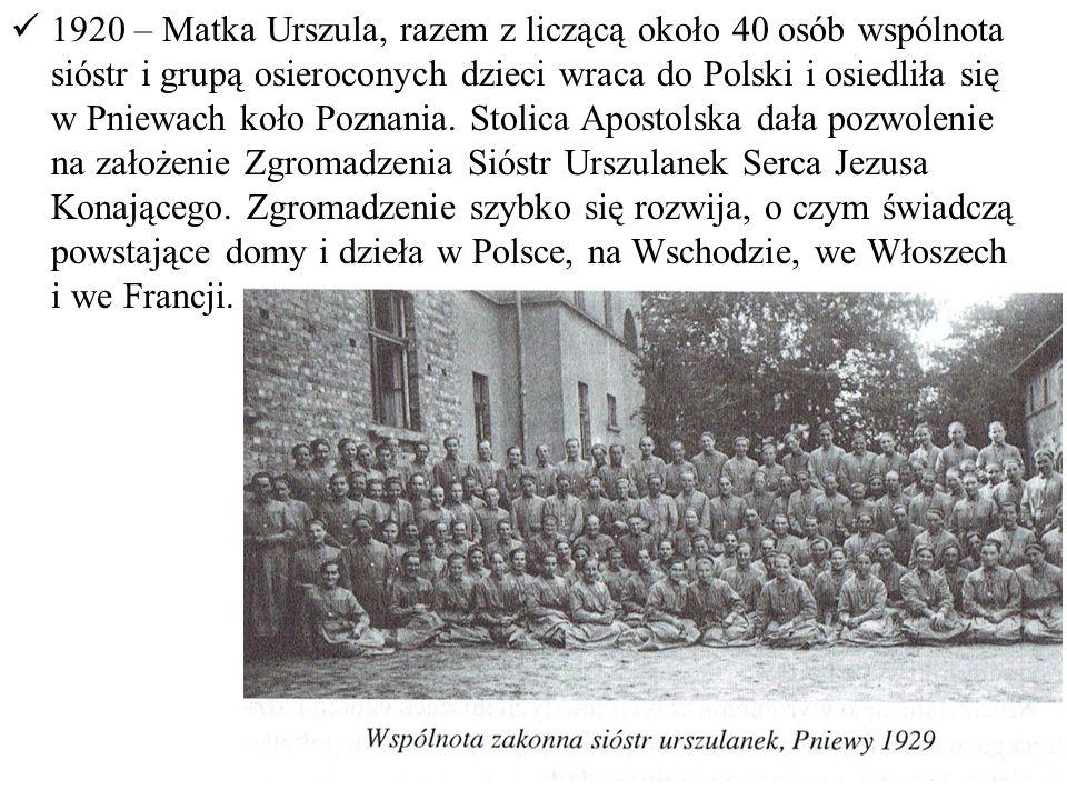 1935 – przybywa do Lipnicy Murowanej, gdzie zakłada ochronkę, prowadzoną przez siostry urszulanki oraz inicjuje Krucjatę Eucharystyczną.