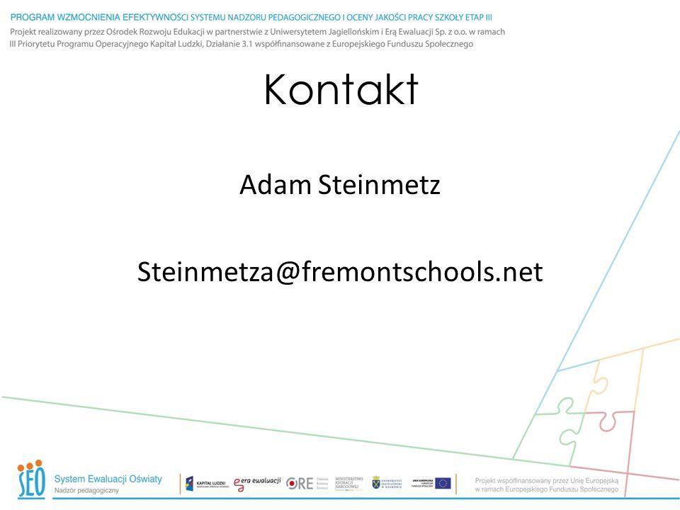 Kontakt Adam Steinmetz Steinmetza@fremontschools.net