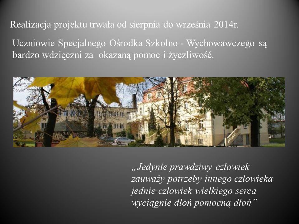 Realizacja projektu trwała od sierpnia do września 2014r.
