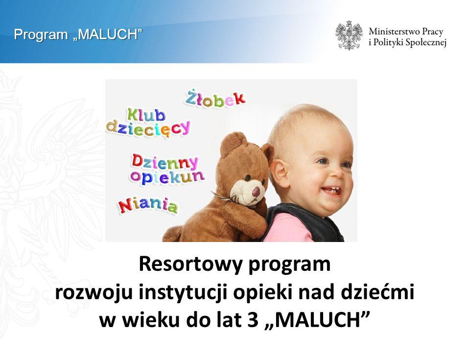 """Program """"MALUCH"""" Resortowy program rozwoju instytucji opieki nad dziećmi w wieku do lat 3 """"MALUCH"""""""