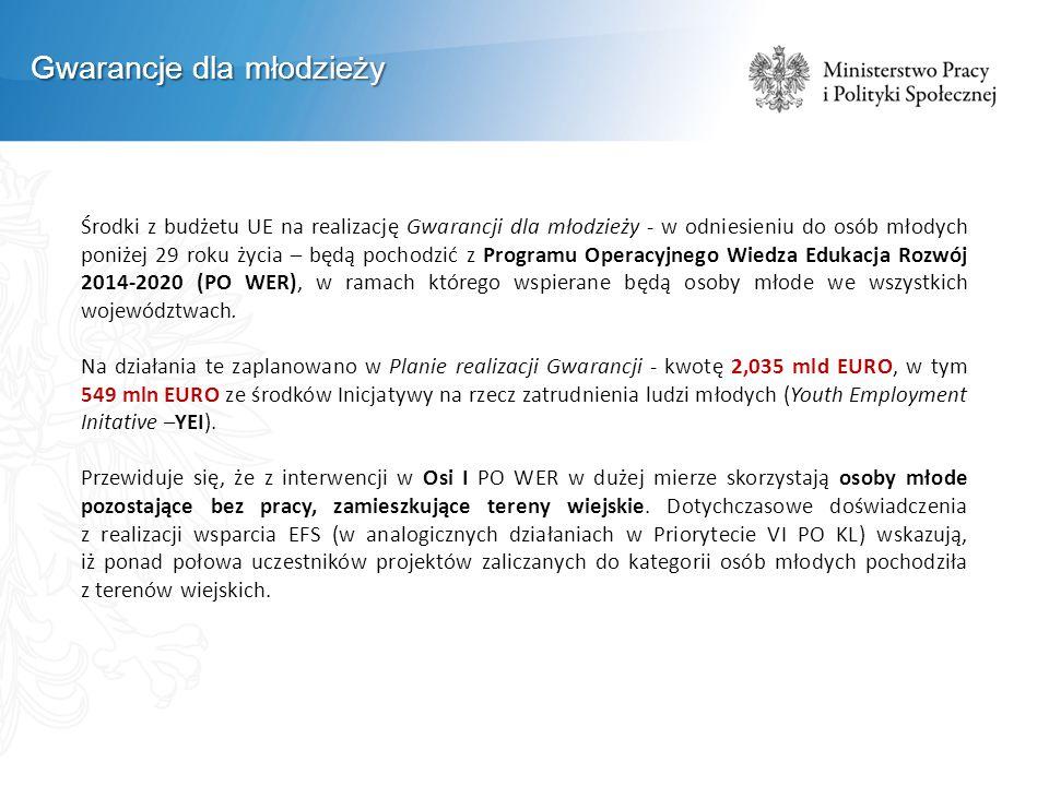"""Gwarancje dla młodzieży Obecnie Ochotnicze Hufce Pracy realizują cztery projekty z PO WER w ramach """"Gwarancji dla Młodzieży (od 16 sierpnia 2014 r."""