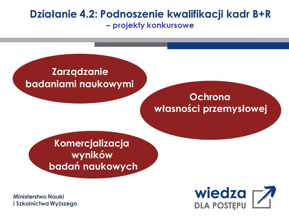 Ministerstwo Nauki i Szkolnictwa Wyższego Działanie 4.2: Podnoszenie kwalifikacji kadr B+R – projekty konkursowe Zarządzanie badaniami naukowymi Komer