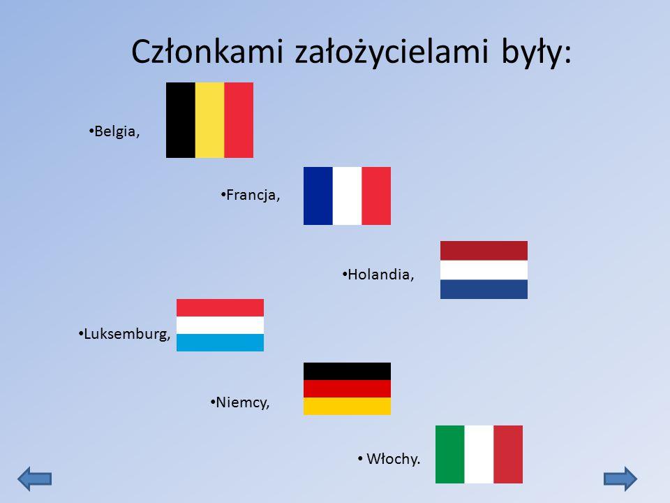 Belgia, Francja, Holandia, Luksemburg, Niemcy, Włochy. Członkami założycielami były: