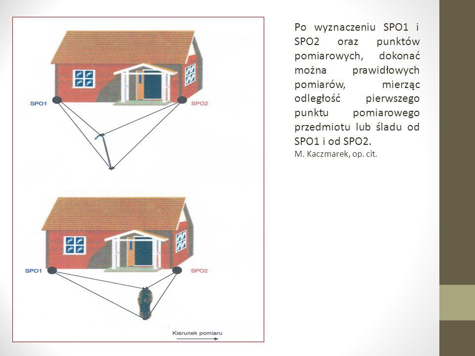 Po wyznaczeniu SPO1 i SPO2 oraz punktów pomiarowych, dokonać można prawidłowych pomiarów, mierząc odległość pierwszego punktu pomiarowego przedmiotu l