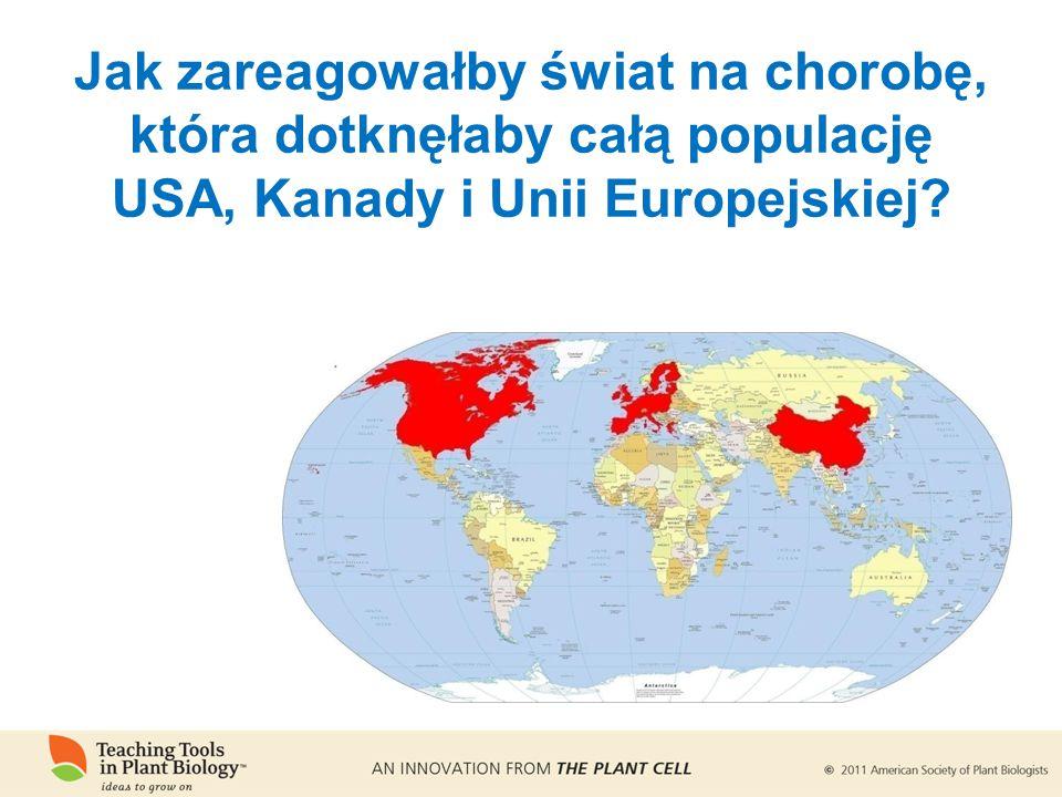 Jak zareagowałby świat na chorobę, która dotknęłaby całą populację USA, Kanady i Unii Europejskiej