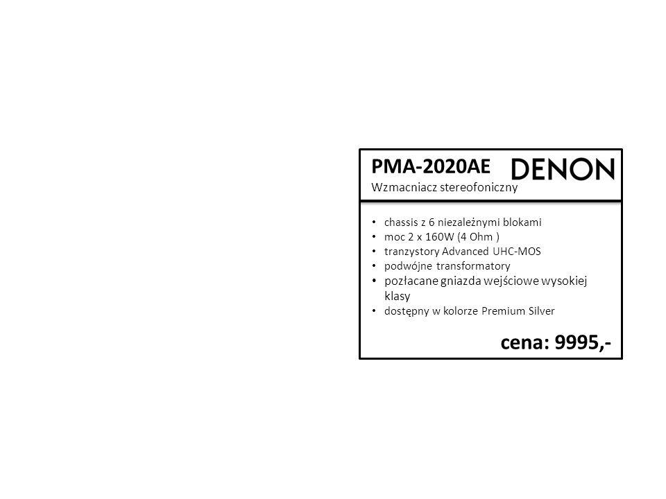 PMA-2020AE Wzmacniacz stereofoniczny chassis z 6 niezależnymi blokami moc 2 x 160W (4 Ohm ) tranzystory Advanced UHC-MOS podwójne transformatory pozłacane gniazda wejściowe wysokiej klasy dostępny w kolorze Premium Silver cena: 9995,-