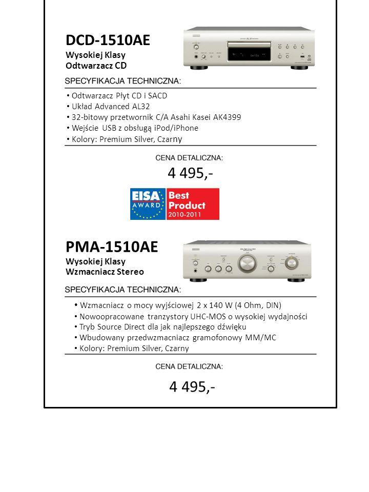 Odtwarzacz Płyt CD i SACD Układ Advanced AL32 32-bitowy przetwornik C/A Asahi Kasei AK4399 Wejście USB z obsługą iPod/iPhone Kolory: Premium Silver, C