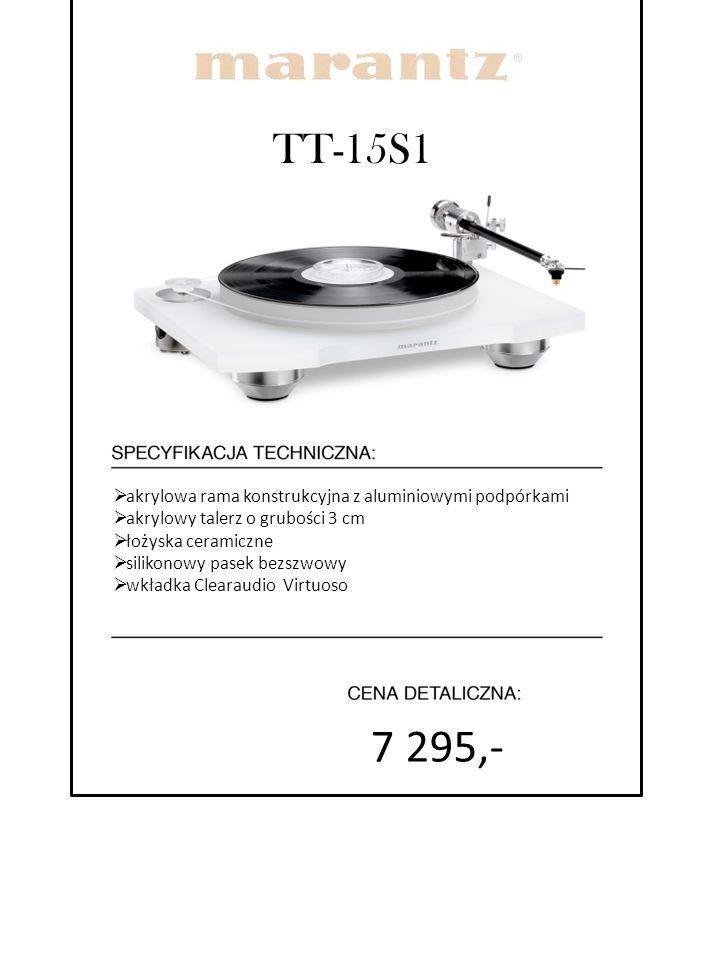 TT-15S1  akrylowa rama konstrukcyjna z aluminiowymi podpórkami  akrylowy talerz o grubości 3 cm  łożyska ceramiczne  silikonowy pasek bezszwowy 