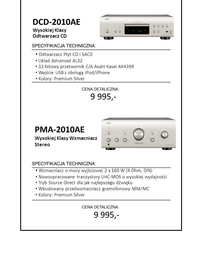 9 995,- DCD-2010AE Wysokiej Klasy Odtwarzacz CD Odtwarzacz Płyt CD i SACD Układ Advanced AL32 32-bitowy przetwornik C/A Asahi Kasei AK4399 Wejście USB