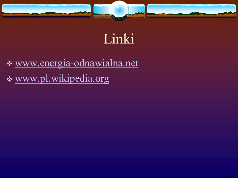 Linki  www.energia-odnawialna.net www.energia-odnawialna.net  www.pl.wikipedia.org