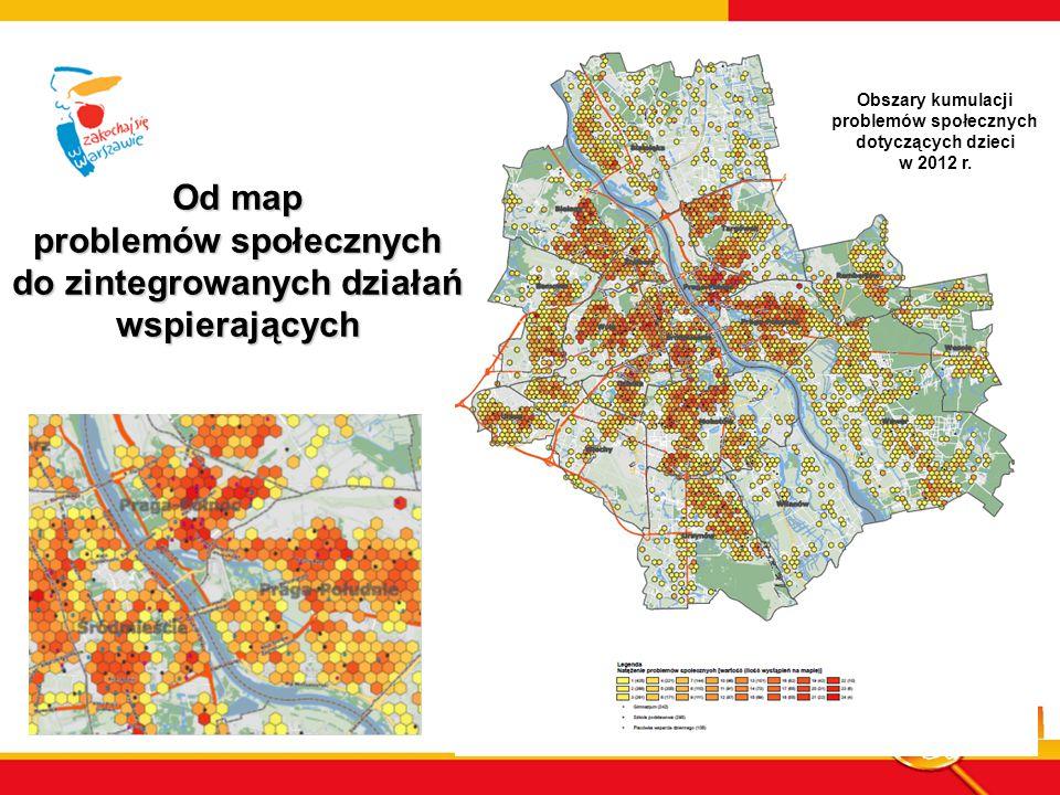 Od map problemów społecznych do zintegrowanych działań wspierających Obszary kumulacji problemów społecznych dotyczących dzieci w 2012 r.
