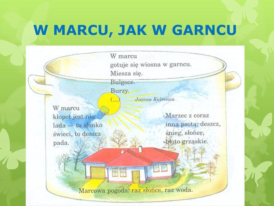 W MARCU, JAK W GARNCU